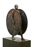 A. CAÑERO. Atlante. 2009. Ed. 6. Bronze. 168 x 76 x 40 cm.