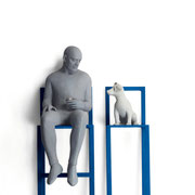 A. CAÑERO. Complicidad. 2014. Ed. 6. Bronze. 165 x 51 x 36 cm.