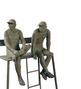 A. CAÑERO. Socorristas de Biarritz II. 2001. Ed. 25. Bronze. 153 x 60 x 40 cm.