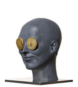 A. CAÑERO. Golden eyes. 2010. Ed. 25. Bronze. 23 x 16,5 x 18,5 cm.