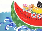 スイカボート watermelon