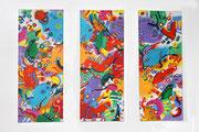 Season 2009 60 x 50 cm (Triptychon)