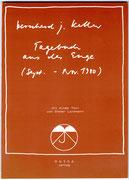 TAGEBUCH AUS DER ENGE · BJK, Zeichnungen · Vorwort: Dieter Lattmann · 15 x 11 cm