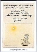 BEOBACHTUNGEN IM NACHBARLAND · BJK, Mehrzeiler · mit Cartoons von Wilhelm Schlote · 15 x 11 cm