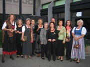 Ausstellung von Olga Karlowa, Pastpräsidentin vom SI-Club Chernivtsi, in Wels