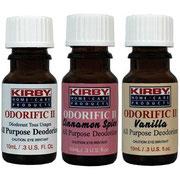 Отлично удаления неприятных запахов Три свежих аромата, сохраняющиеся не один час Использование в мусорных баках и спортивной обуви Нанесите несколько капель на ватный шарик и положите в тканевый мешок вашей системы Kirby