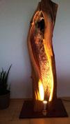 Baumlampe aus Zwetschge