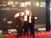 Mit meinen Kollegen Hans-Jürgen Alf (l) und Juri Elmer (m) bei unserer Premerie.