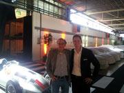 Hier steh ich mit Peter Lang, dem realen Sohn von Hermann Lang - ich war dementsprechend unter sehr kritischer Beobachtung :)