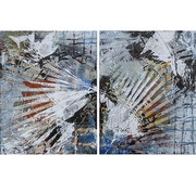 Fire and Ice  dyptych  each panel is 14 x 18  $800 or $400 each