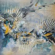 Off on Cloud Nine  40 x 40 acrylic on Canvas  $2400