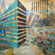 """Connectivity  36"""" x 36"""" acrylic on Canvas $1950"""