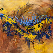 Hit the Ground Running  36 x 36  acrylic on Canvas  $1950