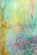 o.T. Acryl und Tusche auf Holz. 30 x 20cm. 2015