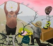Die anbetung des Fauns, oil on canvas, 114x100cm 2011