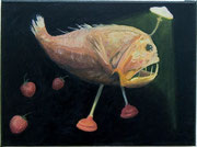 Laternenfisch, oil on canvas, 30x40cm 2011