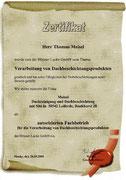 Meisel Dachbeschichtung Autorisierter Fachbetrieb / Zertifikat