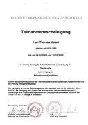 Meisel Dachbeschichtung Asbest - Sachkundelehrgang