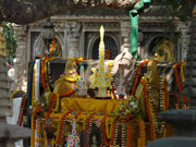 Indien, Bodhgaya, Altar unter dem Bodhi Baum