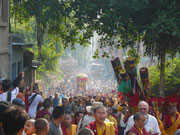 Nepal, Kathmandu, die letzte Ehrung Tenga Rinpoches