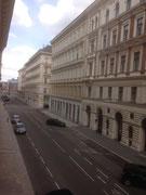 Blick aus dem Zimmerfenster in Wien