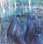 Blick, Mixed Media auf Leinwand, 40 x 40cm