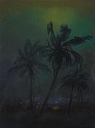 Die Palmen, Öl/Leinwand, 80 x 60 cm, 2016