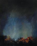 Asche zu Asche, Öl/Leinwand, 100 x 80 cm, 2014