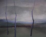 Feierabend, Acryl/Pigment/Nessel, 120 x 150 cm, 2004