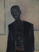 A. (Ausschnitt), Acryl/Nessel, 50 x 130 cm, 1998