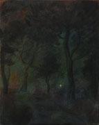 Pinien, Mischtechnik/Leinwand, 50 x 40 cm, 2012