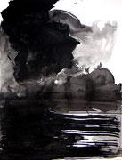 Am See, Tusche/Papier, 2003