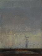 Windräder, Öl/Baumwolle, 40 x 30 cm, 2008