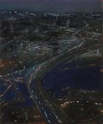 Lichter_6, Acryl/Pigment/Leinwand, 60 x 50 cm, 2001