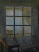 Atelier in Séguret, Öl/Leinwand, 50 x 40 cm, 2016