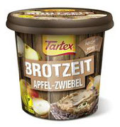 Die raffinierte Kombination aus süß und herzhaft macht die neue Sorte Tartex BROTZEIT Apfel-Zwiebel zu einer wahren veganen Brotzeit-Freude.