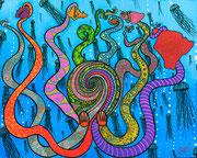 """ Hawaiian Octupus "" 40 x 50cm                         SOLD"