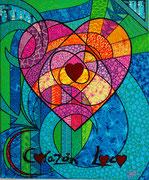 """"""" Corazon Loco """"  64 x 55cm"""