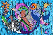 """"""" Peace Love Sylt I """" 40 x 60cm"""