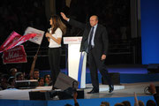 Gérard COLLOMB et Aurélie FILIPETTI, lors du Meeting de François HOLLANDE  - Lyon - Mars 2012 - Photo © Anik COUBLE