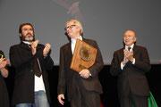 Eric CANTONNA, Ken LOACH et Gérard COLLOMB - Lyon - Festival Lumière 2012 - Photo © Anik COUBLE