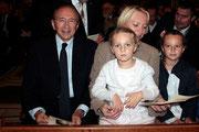 Gérard COLLOMB, son épouse Caroline et leurs 2 filles - Lyon - 08 09 2013  - Photo © Anik COUBLE