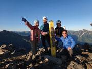 五竜岳山頂での記念撮影