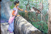 Kerala, Feeding Monkeys