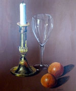 Brass, glass and oranges