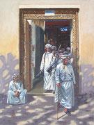 Gunseller, old souk, Nizwa, Oman