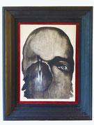 Portrait borgne, 1973 (huile sur bois, 24 x 33 cm, coll. part.  MR)