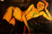 """Copie du """"Nu Jaune"""", env. 2000 (huile, 85 x 60 cm, coll. part. NB)"""