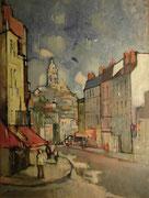Blois, rue Denis Papin, 1958, (huile sur isorel, 54 x 71 cm, coll. part. GR).