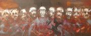 La cène (huile sur bois, 61 x 148 cm, coll. part. GR)